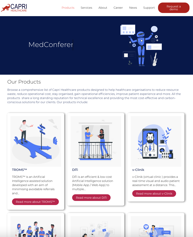 Capri healthcare products